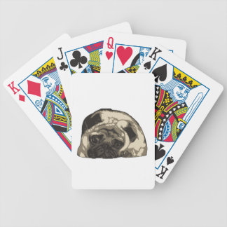 Just a ittle cute pug... bicycle playing cards