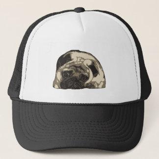 Just a ittle cute pug... trucker hat