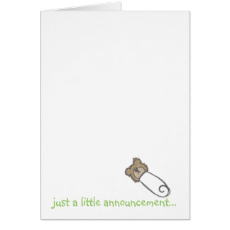just a little announcement... stationery note card