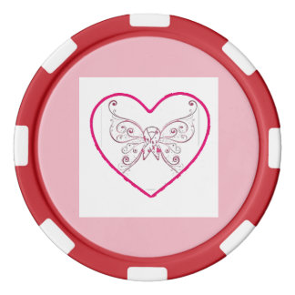 just a little bit of heart poker chip set