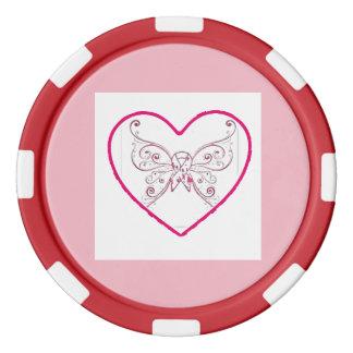just a little bit of heart poker chips