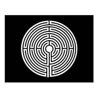 Just a Maze Circular Postcard