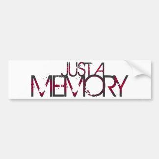 Just A Memory Logo Bumper Sticker