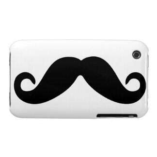 Just A Mustache iPhone case iPhone 3 Cases
