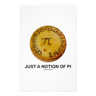 Just A Notion Of Pi (Pi On A Pie) Stationery Design