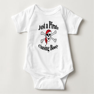Just a Pirate Chasing Booty - Colorful Skull Baby Bodysuit