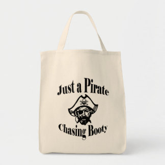 Just a Pirate Chasing Booty Tote Bag