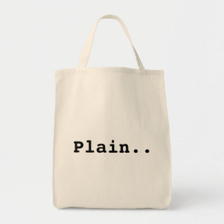 Just a plain old bag.. grocery tote bag