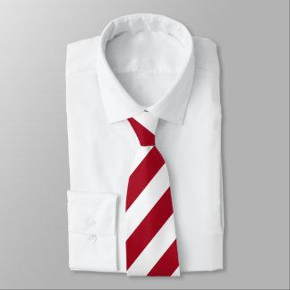 Just A Red & White Stripe Tie