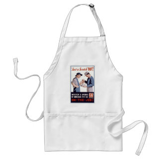"""Just a Scratch"" First Aid Poster Adult Apron"