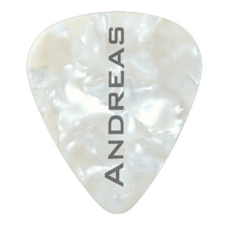 just a simple guitar pick with guitarist name