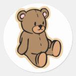 Just a Teddy Bear Round Sticker