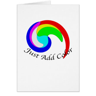 Just Add Color Additive Color Combinations Spiral Note Card