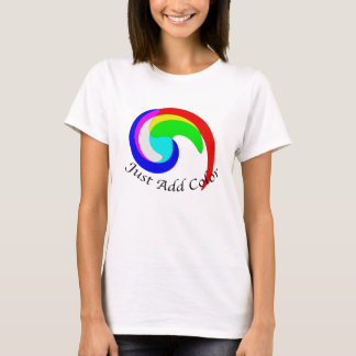 Just Add Color Additive Color Combinations Spiral T-Shirt