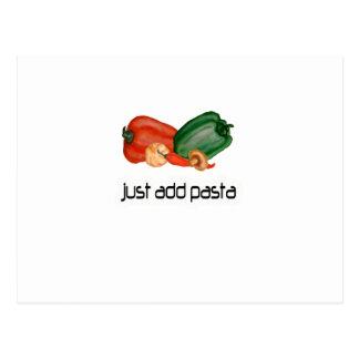 Just add pasta postcard