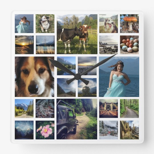 Just Add Photos Custom 24 Picture Collage Square