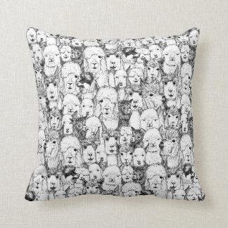 just alpacas black white cushion
