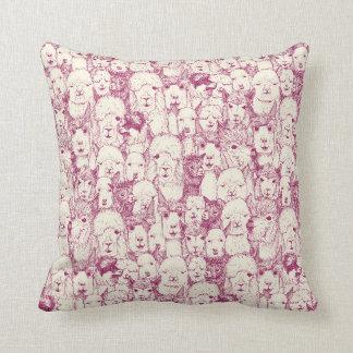 just alpacas cherry pearl cushion