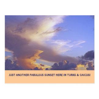 """JUST ANOTHER FABULOUS SUNSET"" (TURKS&CAICOS POSTC POSTCARD"