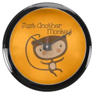 Just Another Monkey Aqua Clocks