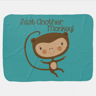 Just Another Monkey Baby Blanket