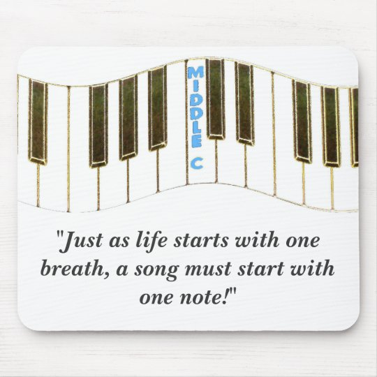 """""""Just as life starts with one breath"""" Mouse Pad"""
