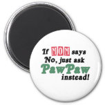 Just Ask PawPaw Fridge Magnet