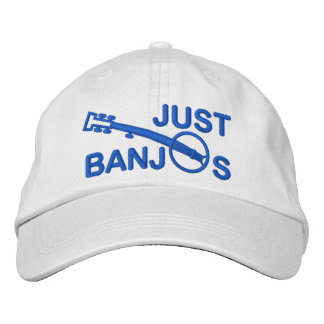 Just Banjos Cap with Blue Embroidery Embroidered Hats