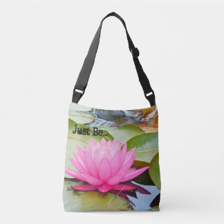 """Just Be"" Lotus cross shoulder bag"