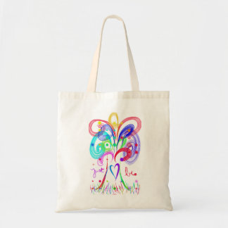 Just Be Tree and Heart Tote Bag
