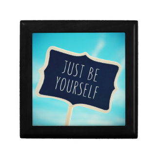 Just Be Yourself Small Square Gift Box