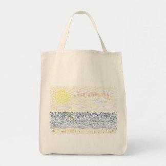 Just Beachy Grocery Tote Bag