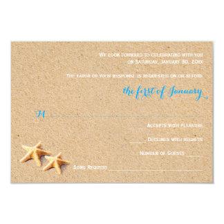 Just Beachy Wedding RSVP Template