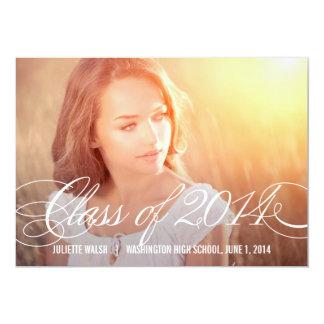 Just Beautiful Graduation Announcement - Wood Personalized Invitations