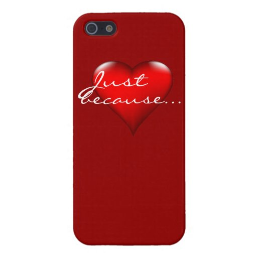 Just because heart experessions iPhone 5 covers