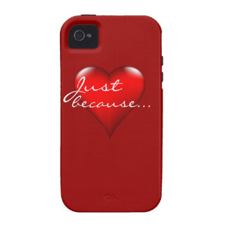 Just because heart expressions iPhone 4/4S cover