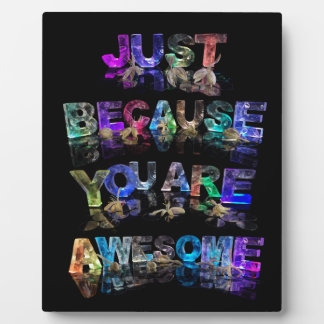 Just Because You Are Awesome Plaque