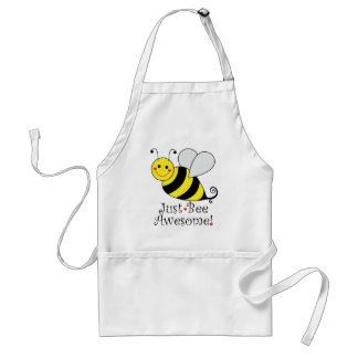 Just Bee Awesome Cute Bumble Bee Standard Apron