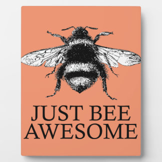 Just Bee Awesome! Motivational Vintage Art Gift Plaque