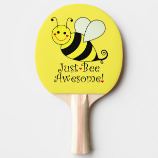 Just Bee Awesome Yellow Bumble Bee Ping Pong Paddle