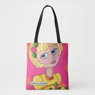 """""""Just Bee 'n Me Girls"""" All Over Print Tote Bag"""