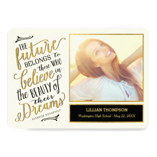 Just Believe EDITABLE COLOR Graduation Card 13 Cm X 18 Cm Invitation Card
