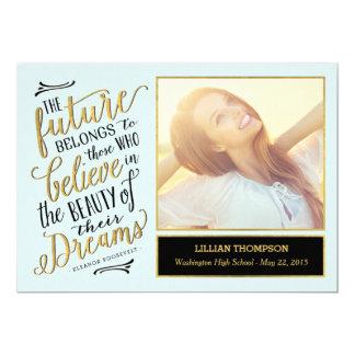 Just Believe Graduation Announcement Invitation