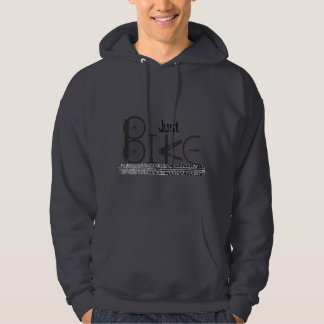 """Just Bike"" Graffiti from Bike Parts & Tire Tracks Hoodie"
