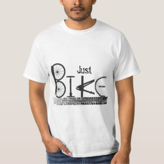 """Just Bike"" Graffiti from Bike Parts & Tire Tracks T-Shirt"