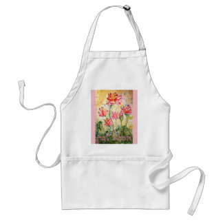 Just Bloom Lotus Watercolor Art Apron