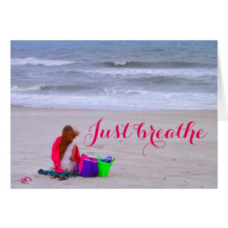 Just Breathe blank greeting card
