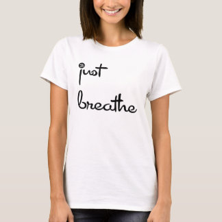 JUST BREATHE OM BLACK ~ Graphic Tee