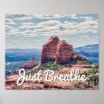 Just Breathe Sedona Background   Poster