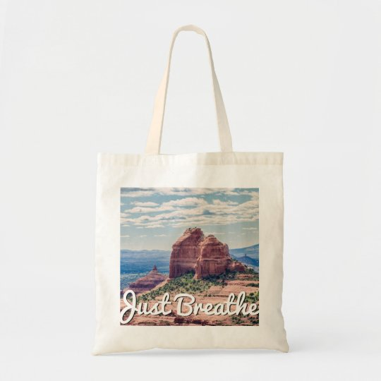 Just Breathe Sedona Background | Tote Bag